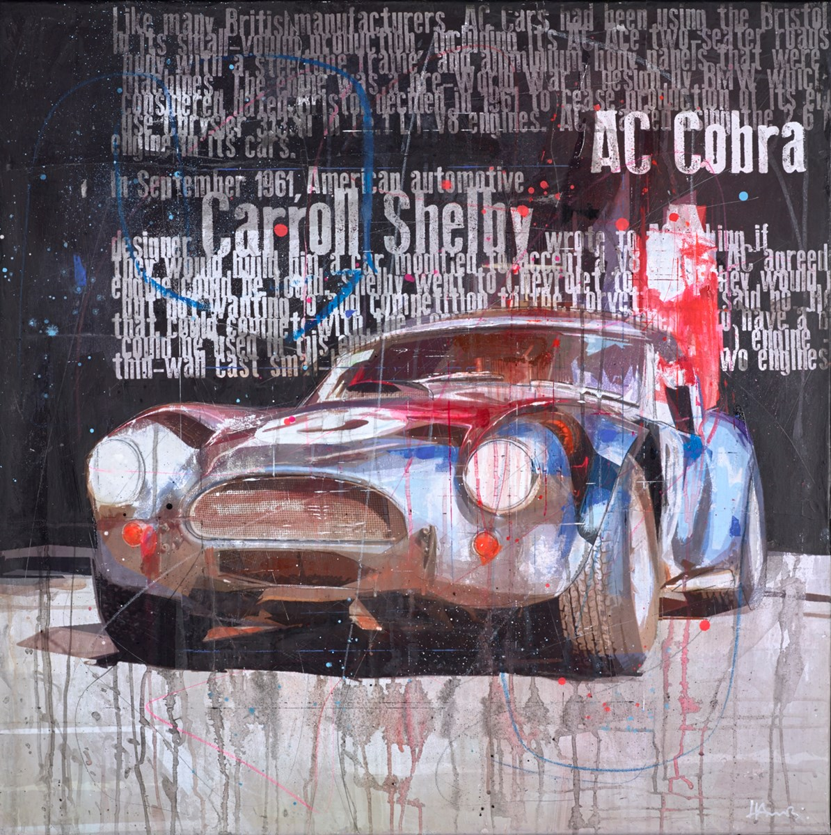 AC Cobra by markus haub -  sized 39x39 inches. Available from Whitewall Galleries